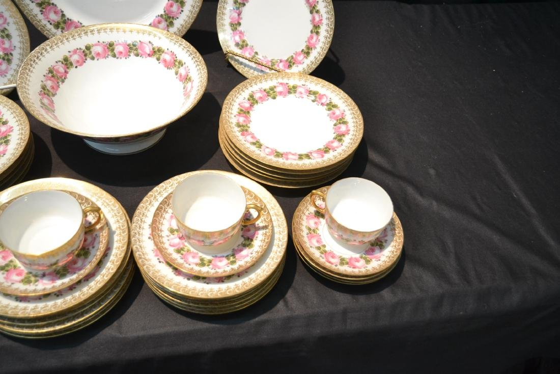 (41)pc D & C LIMOGES CHINA SERVICE WITH FLOWERS - 6