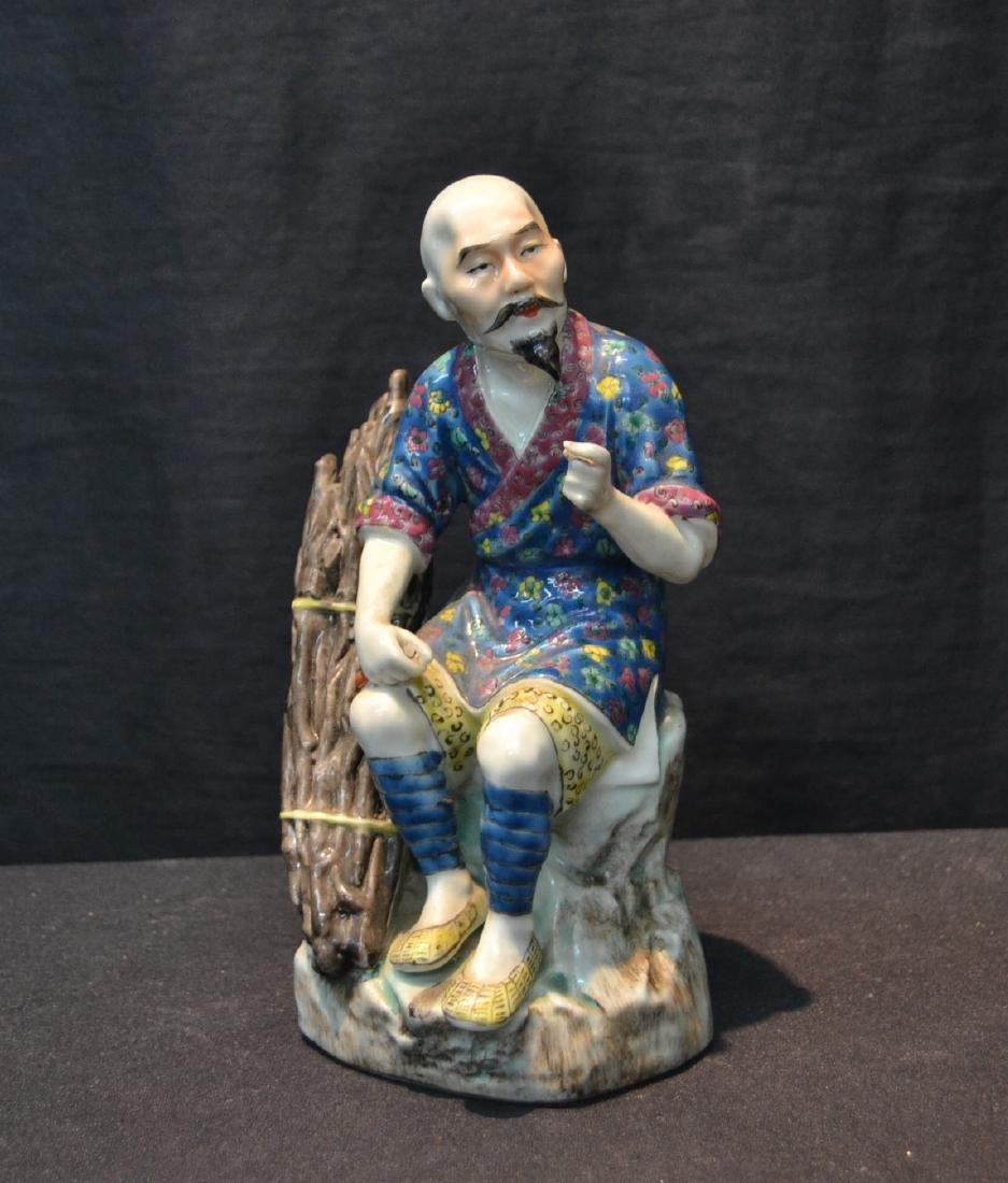 "CHINESE PORCELAIN MAN - 5"" x 7 1/2"""