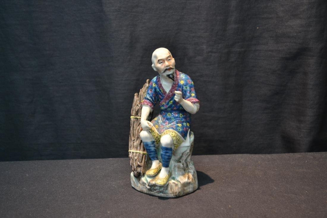 "CHINESE PORCELAIN MAN - 5"" x 7 1/2"" - 6"