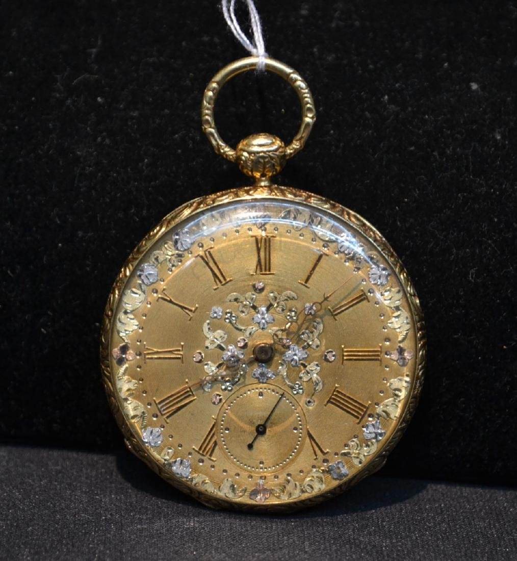 EUROPEAN 18kt GOLD POCKET WATCH WITH