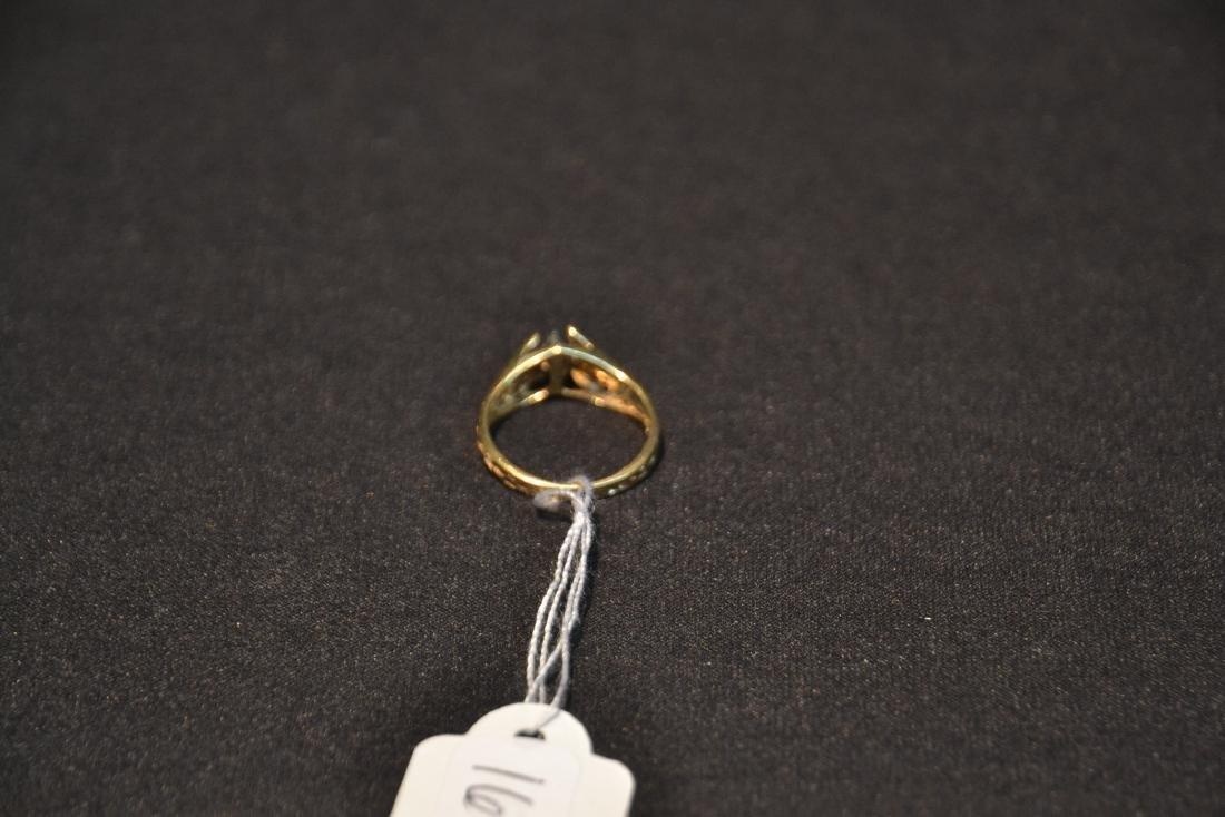 14kt (2) DIAMOND FILIGREE RING - SIZE 7 - 4