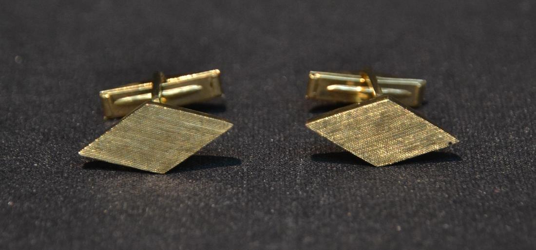 (Pr) 14kt GOLD CUFFLINKS - 6.9grams