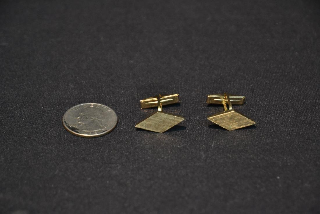 (Pr) 14kt GOLD CUFFLINKS - 6.9grams - 5