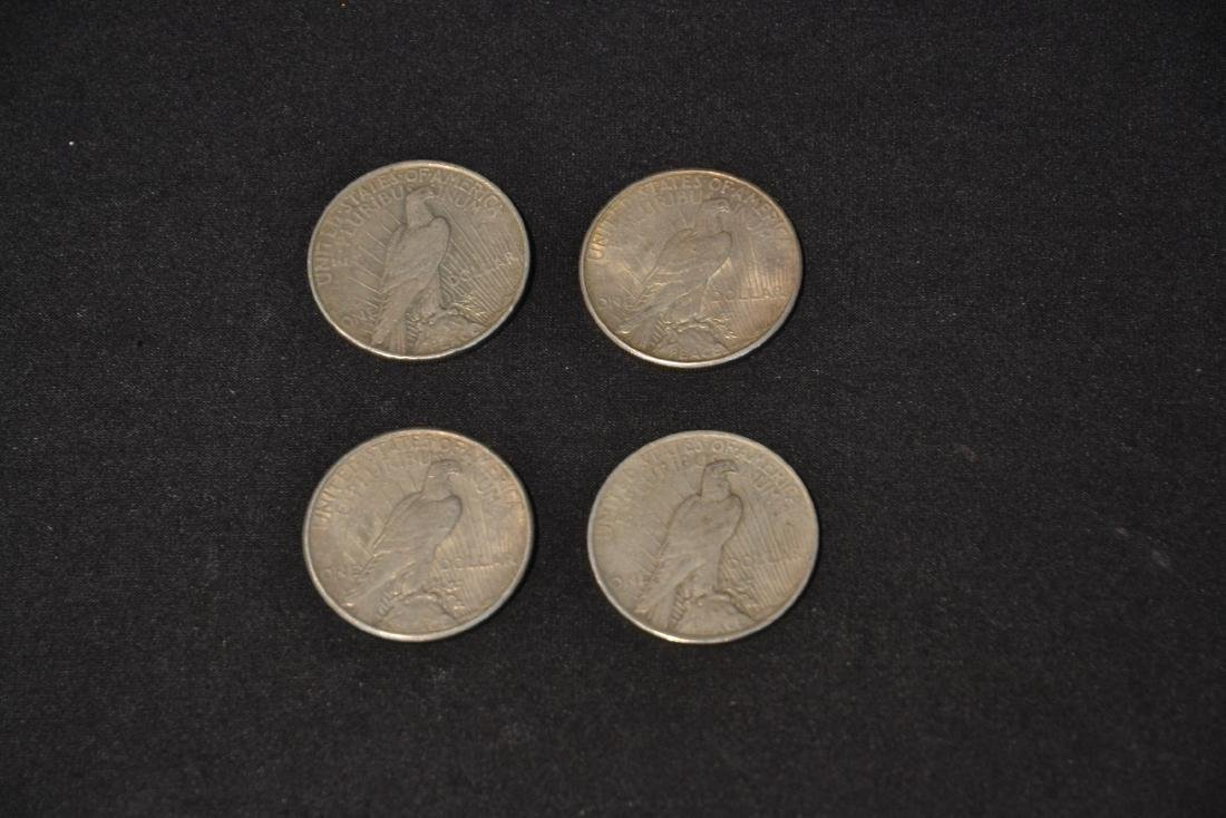 (4) LIBERTY SILVER DOLLARS ; FROM 1922 - 1926 - 8