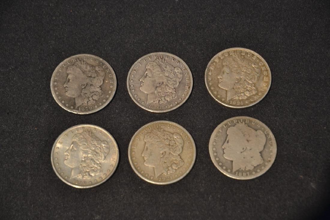 (6) MORGAN SILVER DOLLARS FROM 1879-1921 - 2