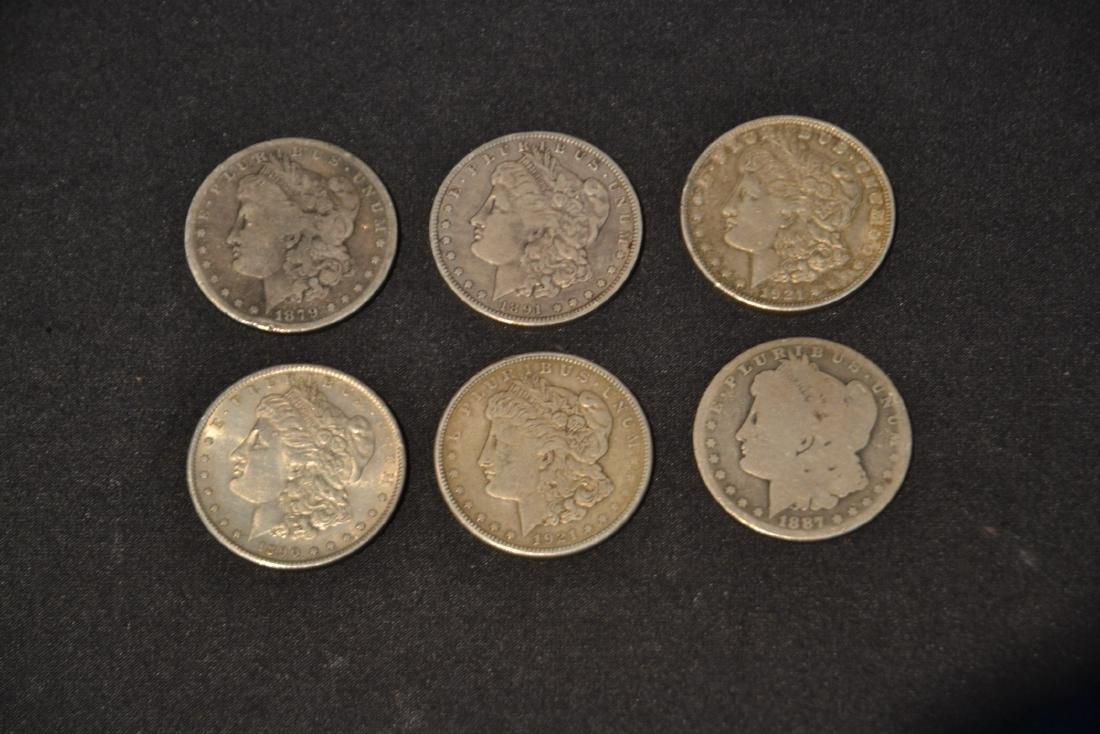 (6) MORGAN SILVER DOLLARS FROM 1879-1921 - 3