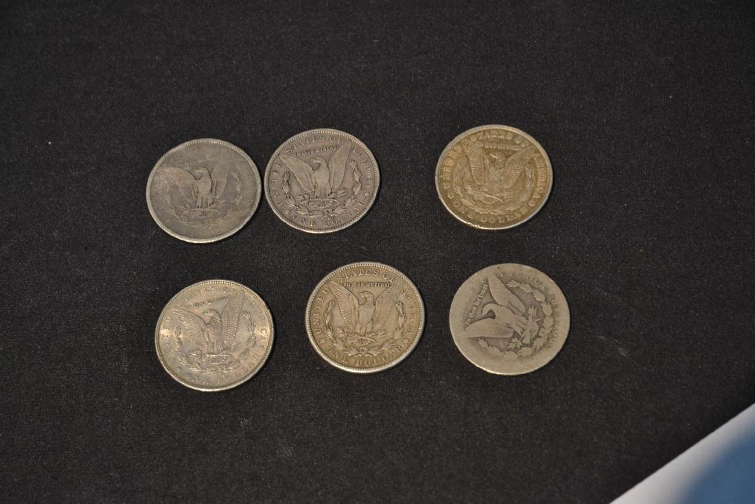 (6) MORGAN SILVER DOLLARS FROM 1879-1921 - 6