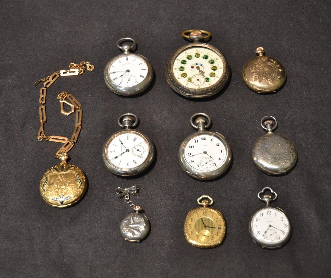 (10) ASSORTED POCKET WATCHES INCLUDING