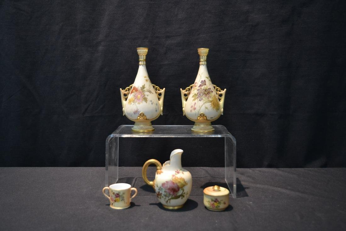 (5)pc's OF ROYAL WORCESTER TO INCLUDE - 2