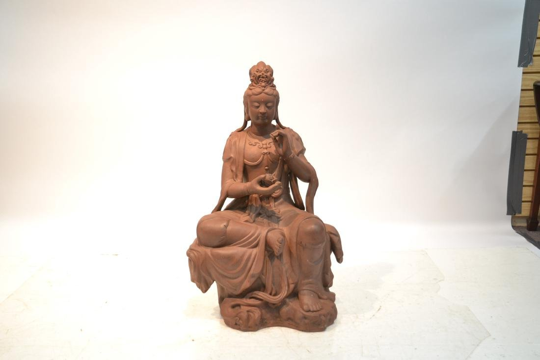 "LARGE 32"" CHINESE TERRACOTTA GODDESS - 2"