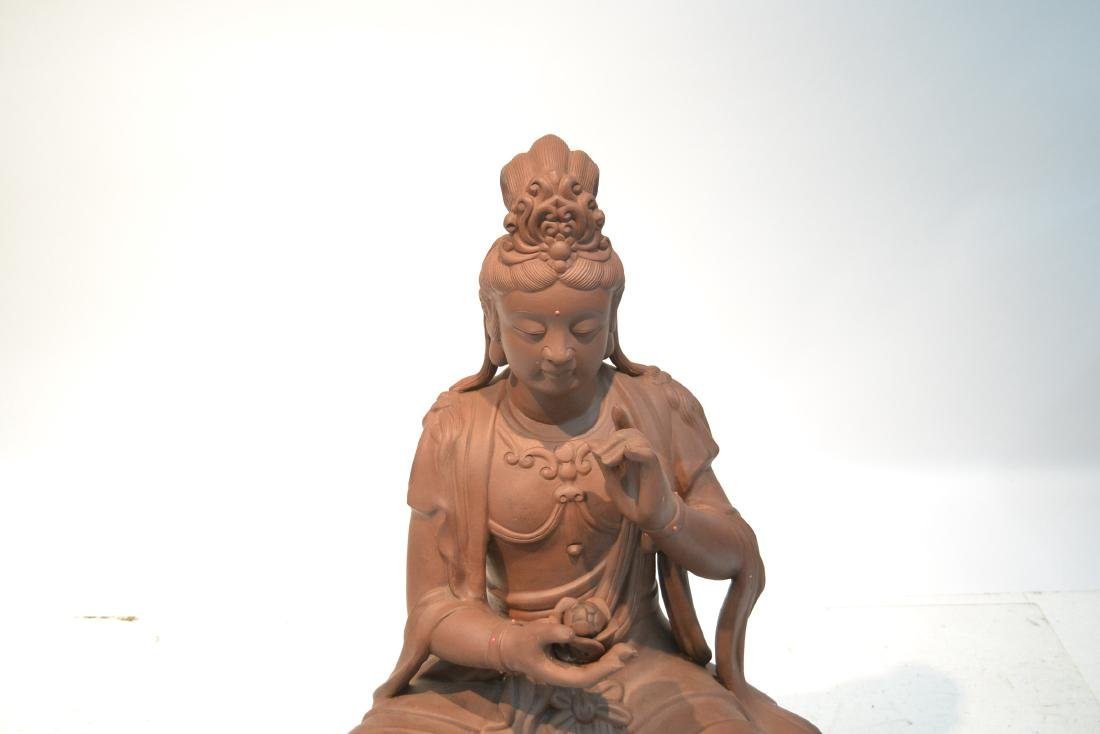 "LARGE 32"" CHINESE TERRACOTTA GODDESS - 5"