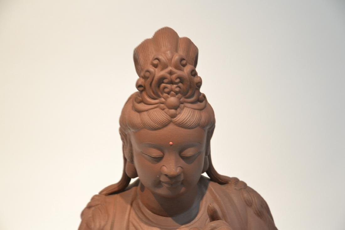 "LARGE 32"" CHINESE TERRACOTTA GODDESS - 6"