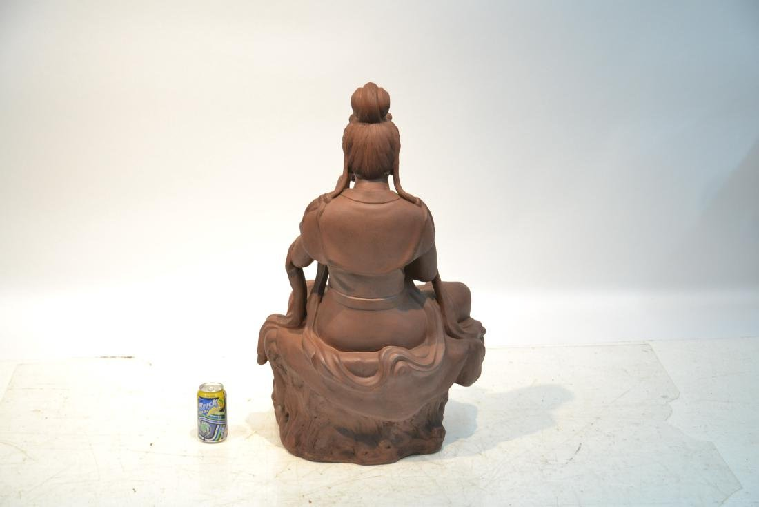 "LARGE 32"" CHINESE TERRACOTTA GODDESS - 7"