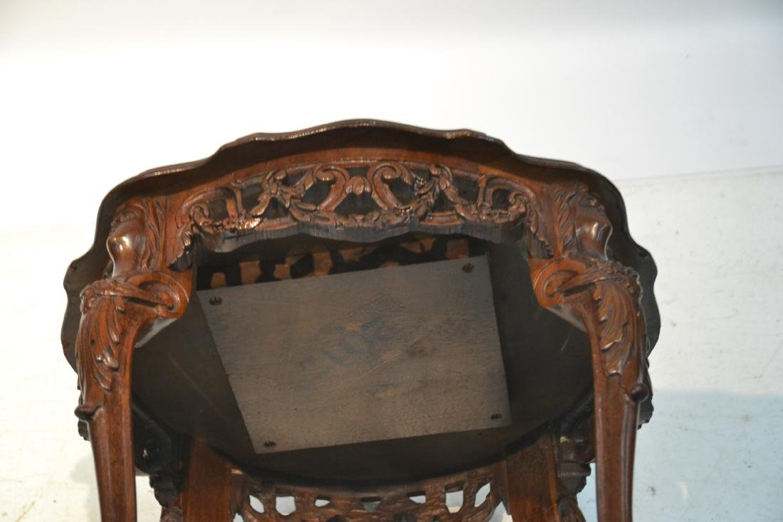 MAHOGANY TRAY TABLE WITH CARVED ROMAN PORTRAIT - 10