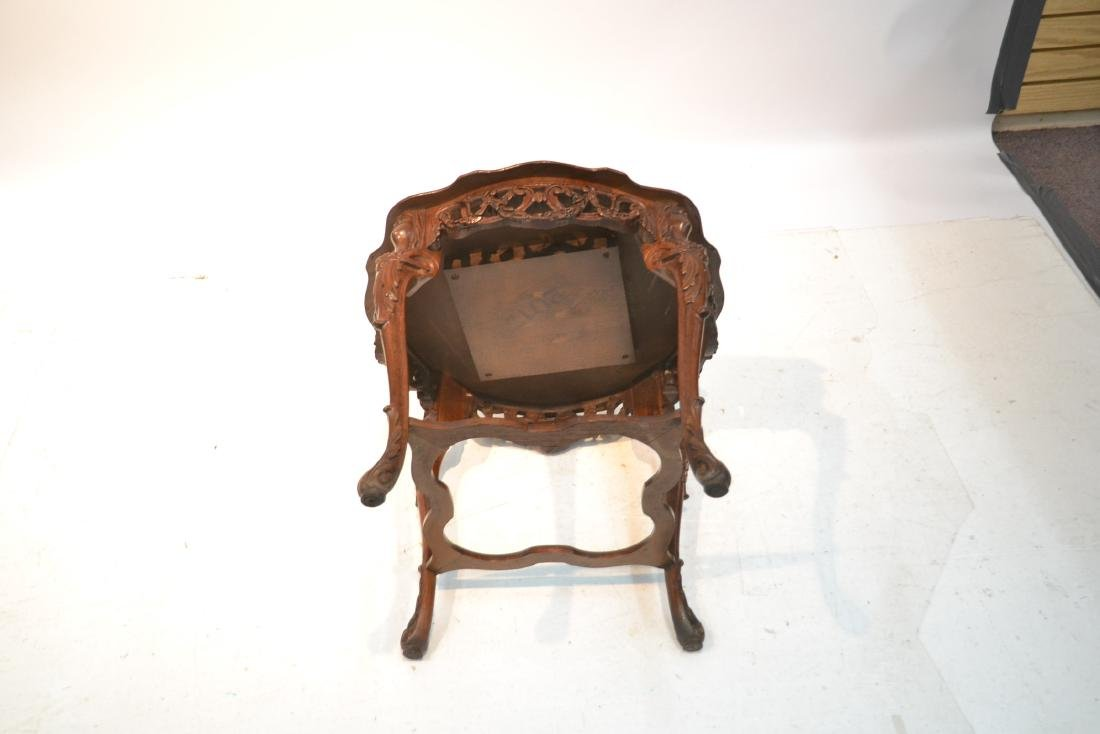 MAHOGANY TRAY TABLE WITH CARVED ROMAN PORTRAIT - 9