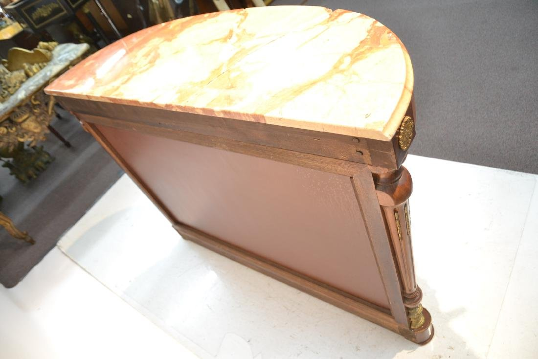 FRENCH MARBLE TOP CONSOLE WITH FULL BODIED - 10