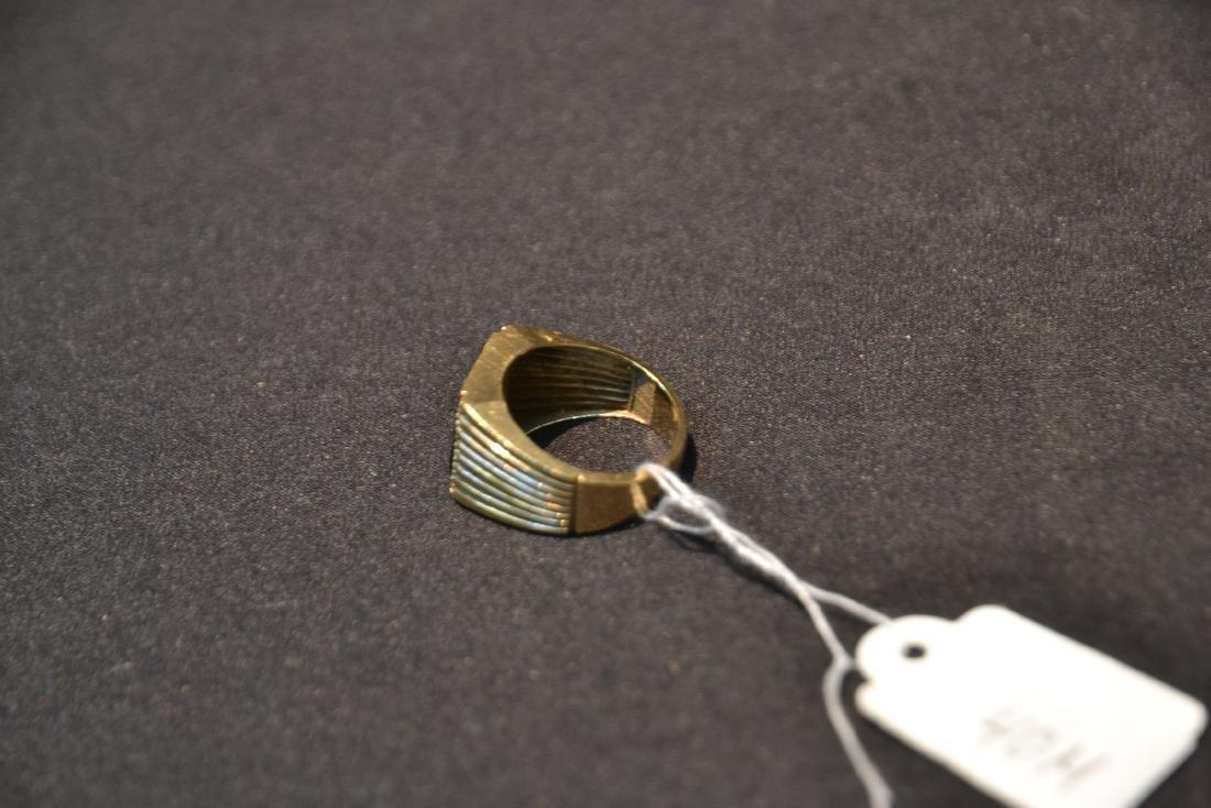 14kt GOLD DIAMOND & ONYX MANS RING - SIZE 9 1/2 - 10