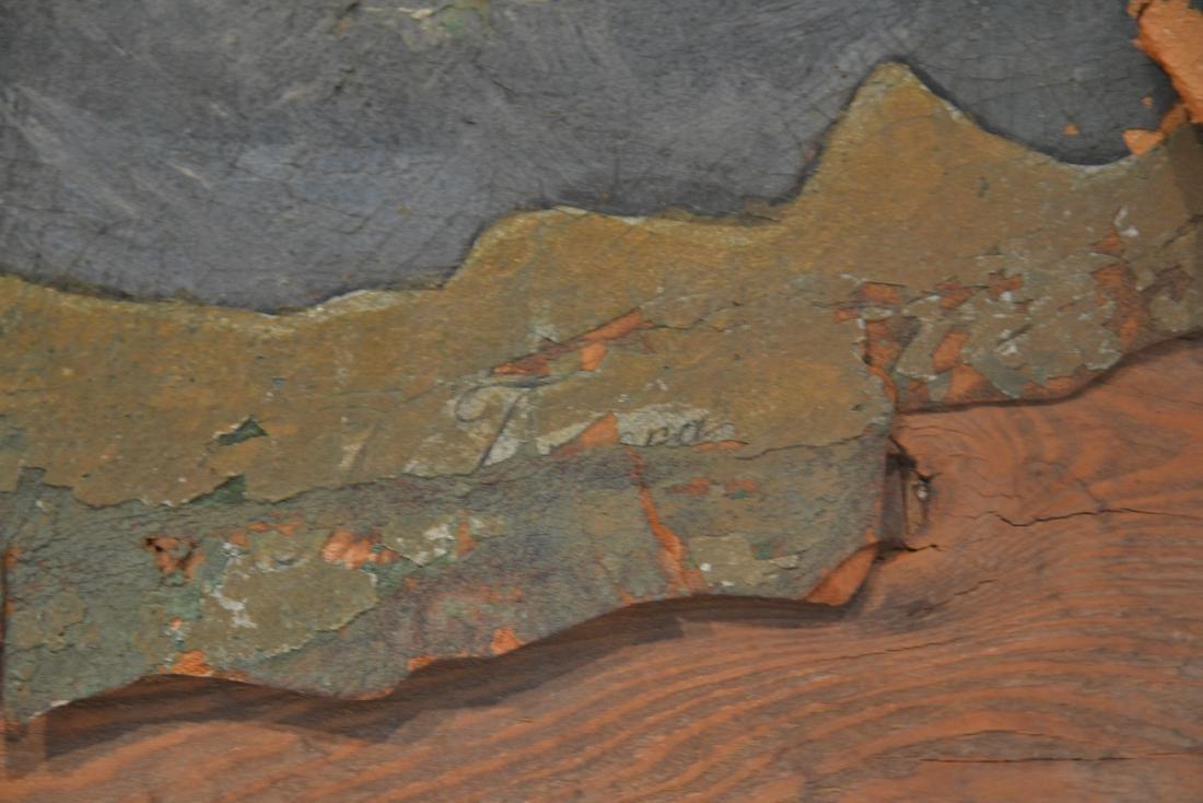ANTIQUE SAINT GEORGE & THE DRAGON OIL PAINTING - 7