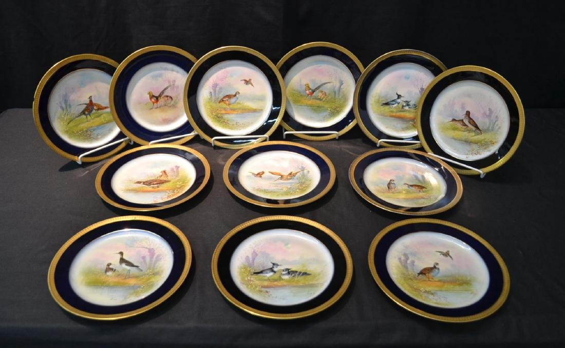 (12) M.REDON LIMOGES HAND PAINTED PHEASANT