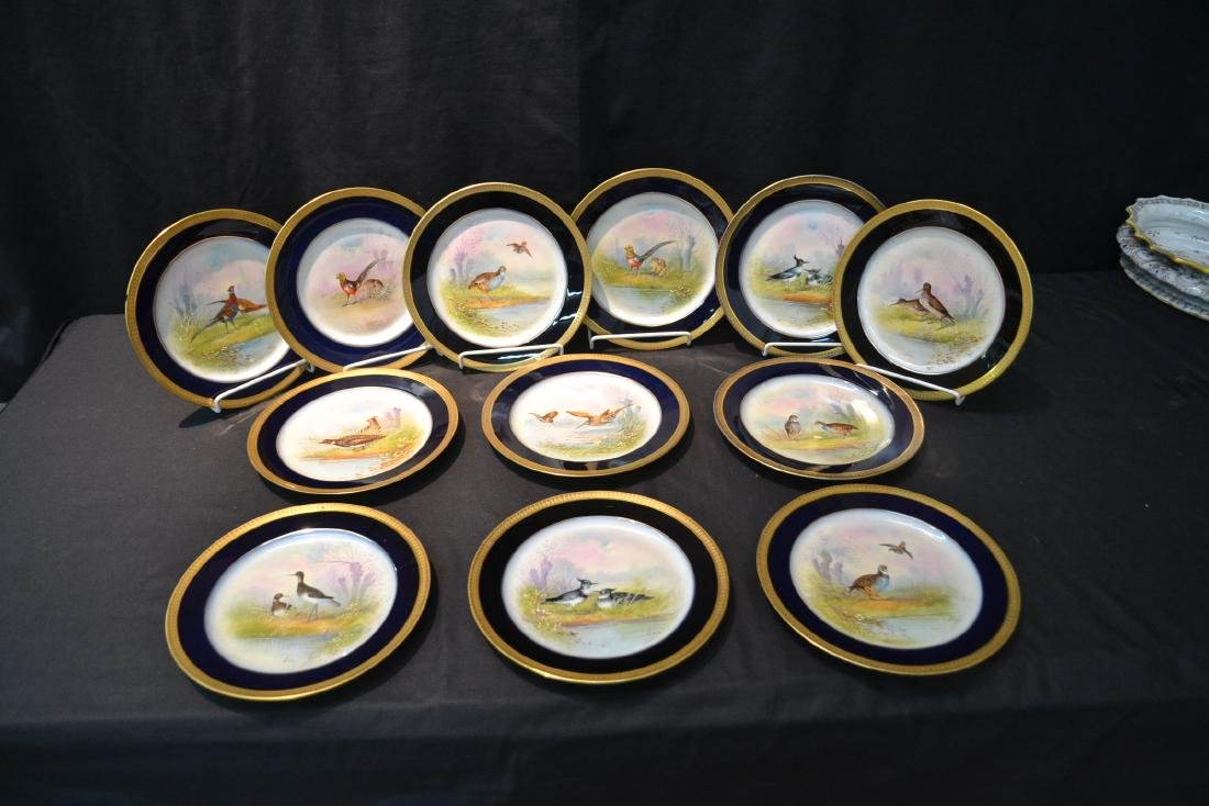 (12) M.REDON LIMOGES HAND PAINTED PHEASANT - 2