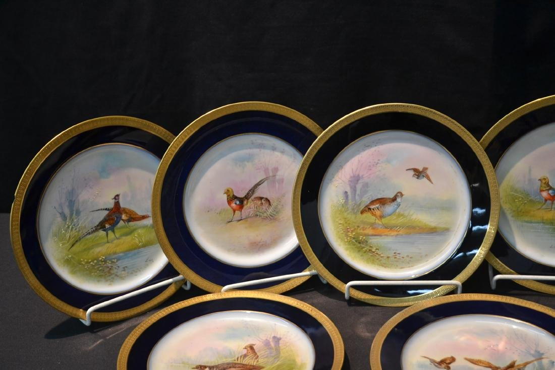 (12) M.REDON LIMOGES HAND PAINTED PHEASANT - 3