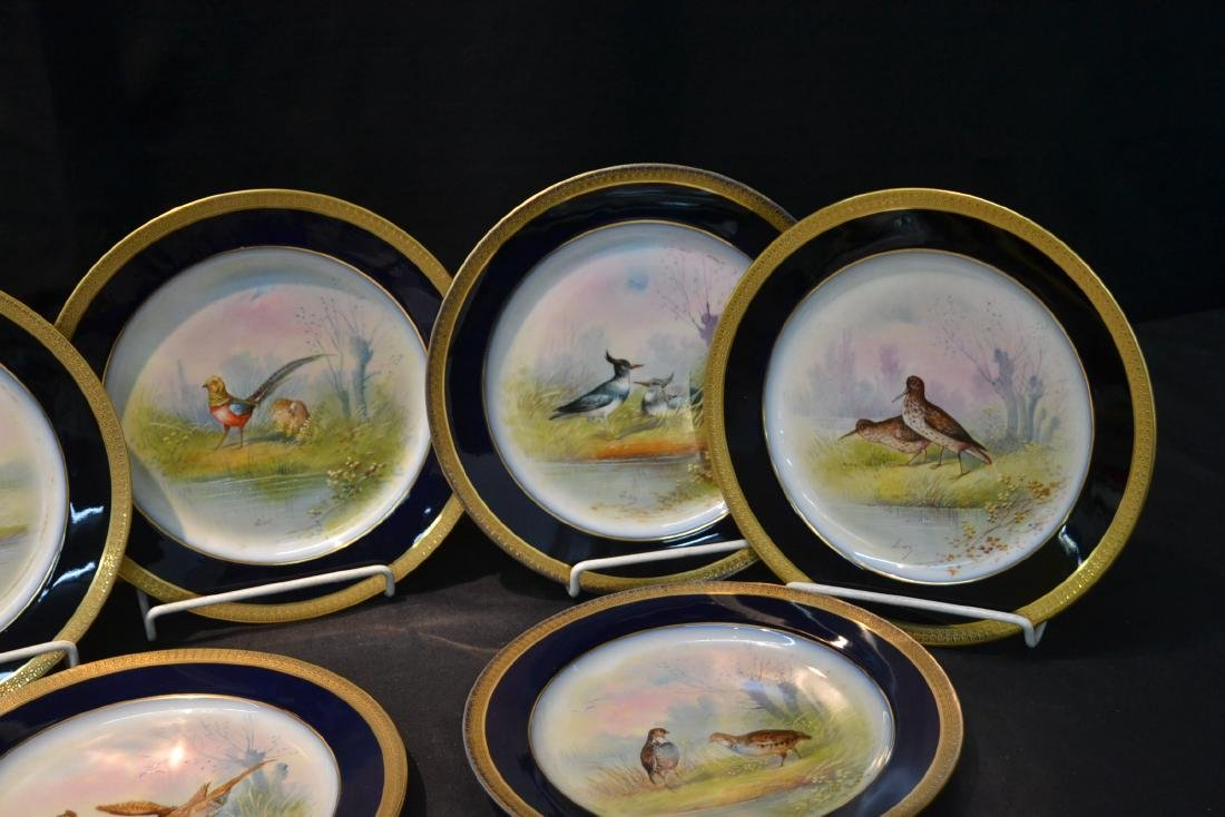 (12) M.REDON LIMOGES HAND PAINTED PHEASANT - 4