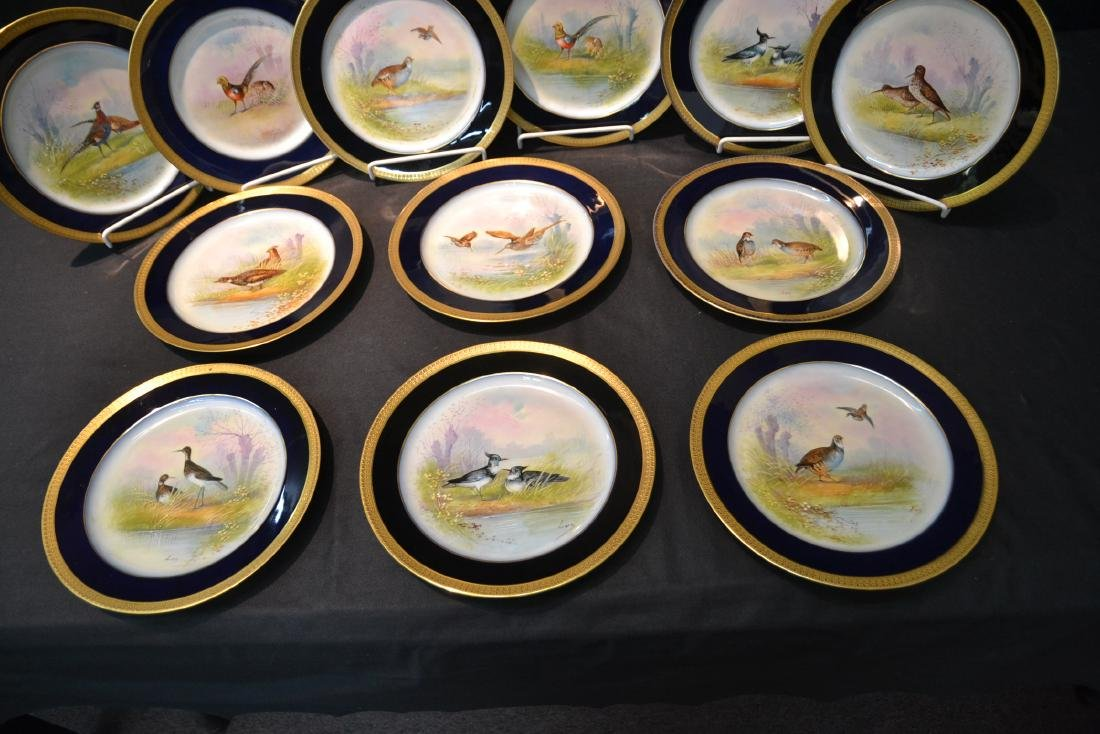 (12) M.REDON LIMOGES HAND PAINTED PHEASANT - 5