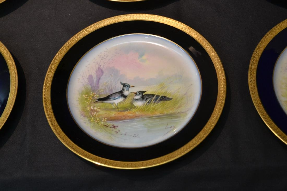 (12) M.REDON LIMOGES HAND PAINTED PHEASANT - 6