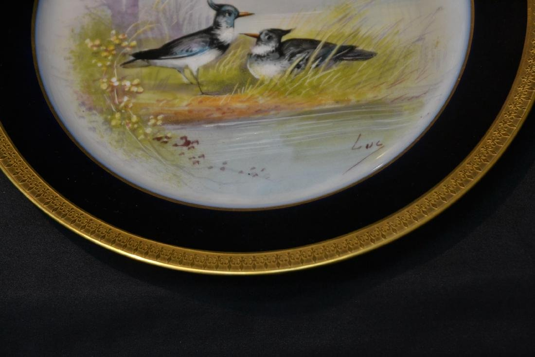 (12) M.REDON LIMOGES HAND PAINTED PHEASANT - 7