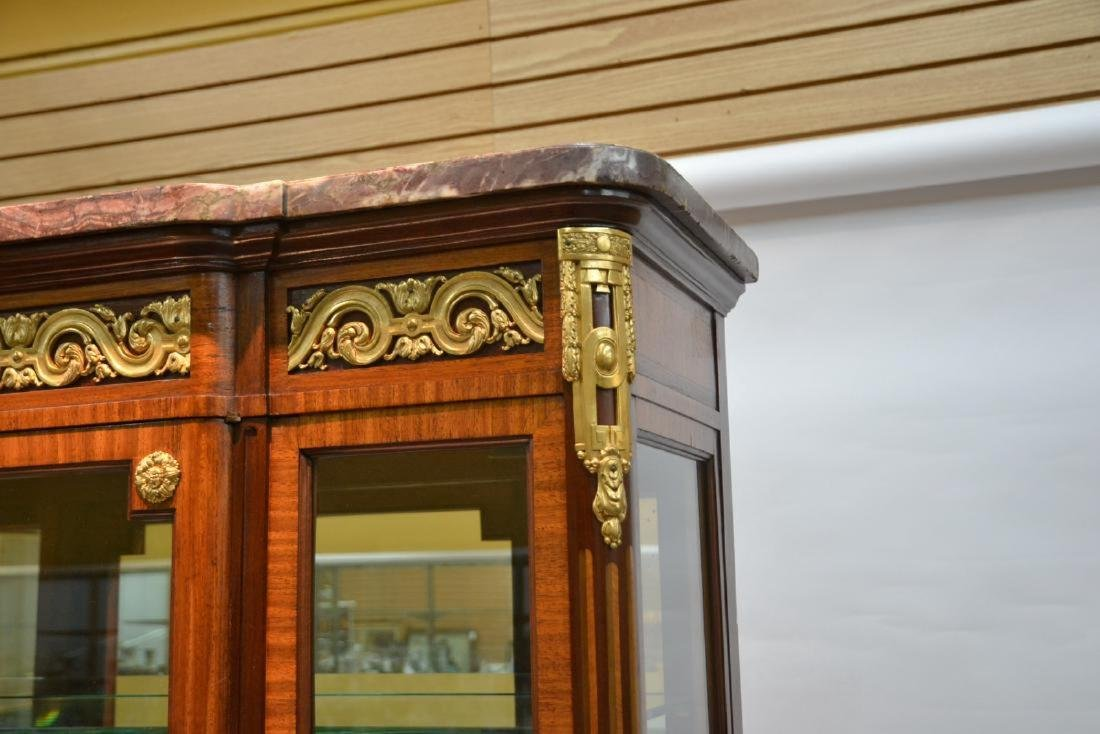 19thC FRENCH PARQUETRY INLAID CHINA CABINET - 3