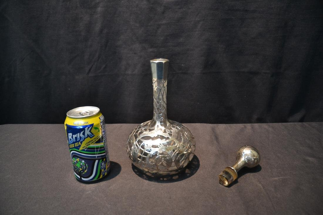 """STERLING OVERLAY DECANTER - 4 1/2"""" x 11"""" - 6"""