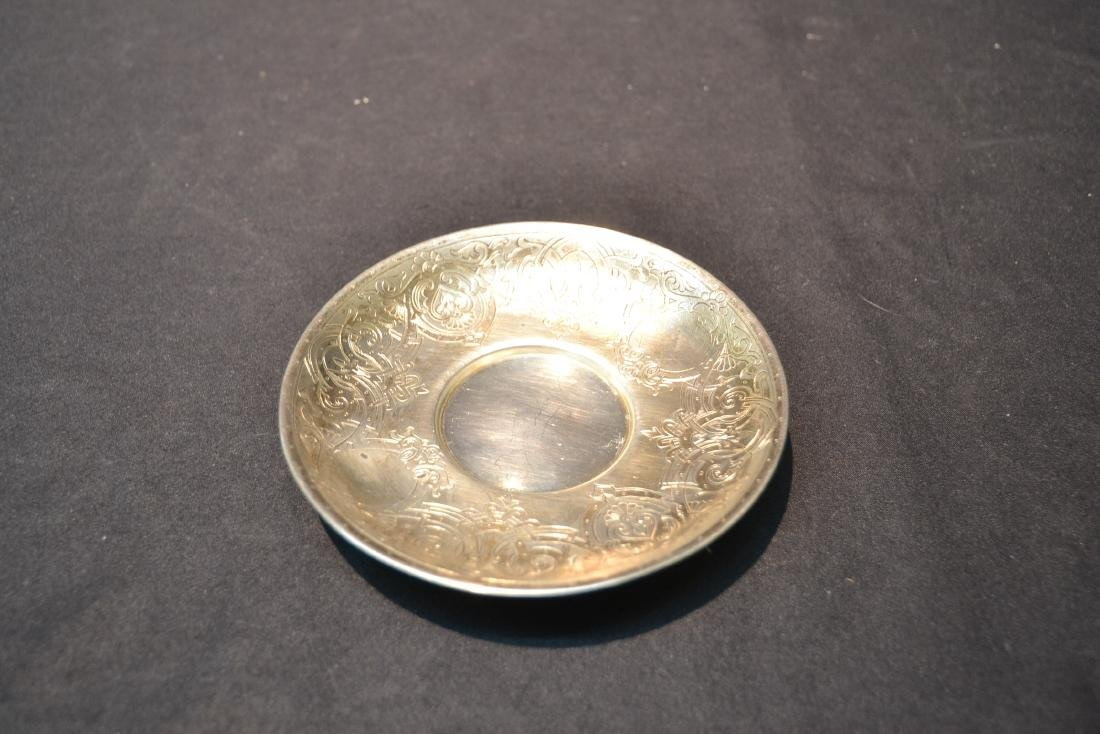 RUSSIAN 84 SILVER ENGRAVED CUP & SAUCER - 5