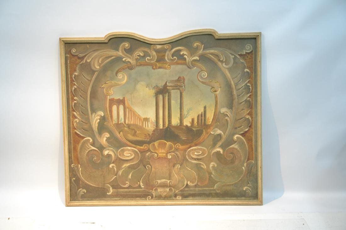 19thC OIL ON CANVAS OF ROMAN RUINS LANDSCAPE - 2