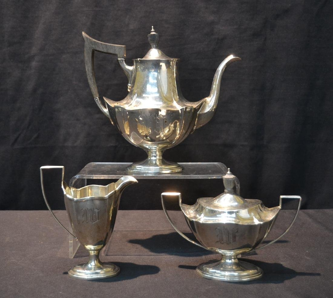 (3)pc GORHAM STERLING SILVER TEA SET