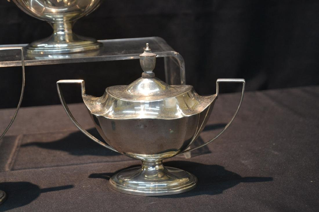 (3)pc GORHAM STERLING SILVER TEA SET - 3