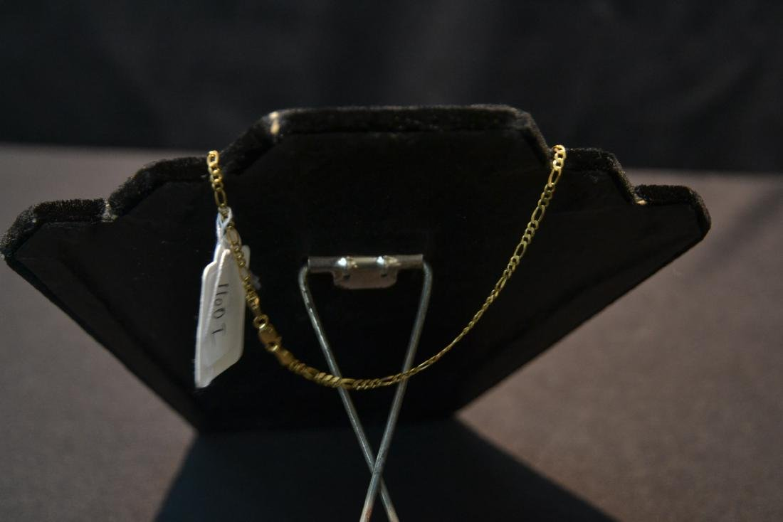 14kt GOLD CHAIN & DIAMOND HEART PENDANT - 7