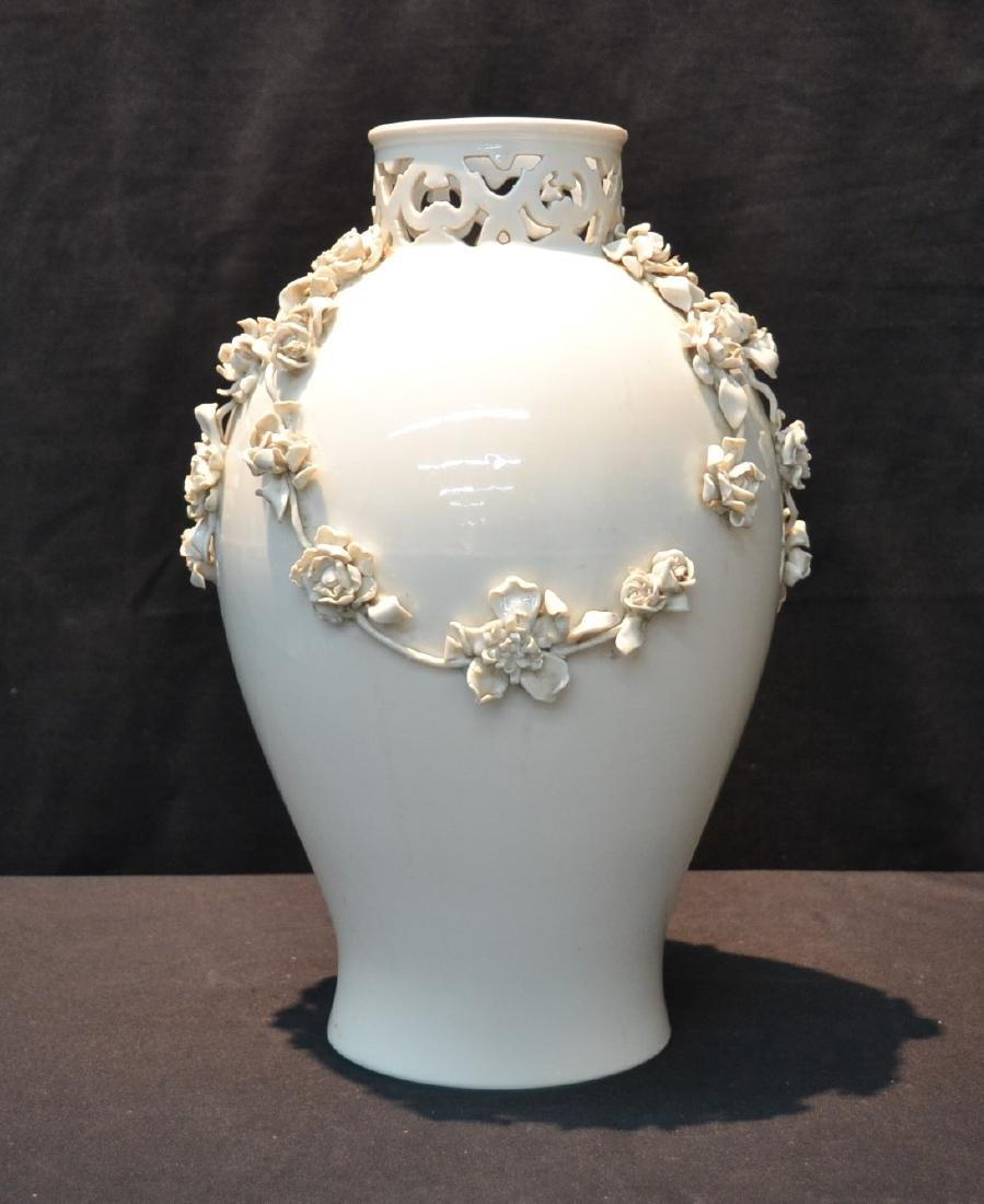 NYMPHENBERG BLANC DE CHINE VASE WITH