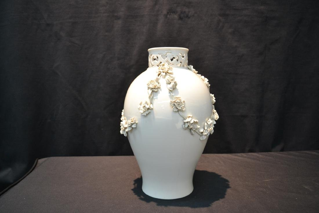 NYMPHENBERG BLANC DE CHINE VASE WITH - 4