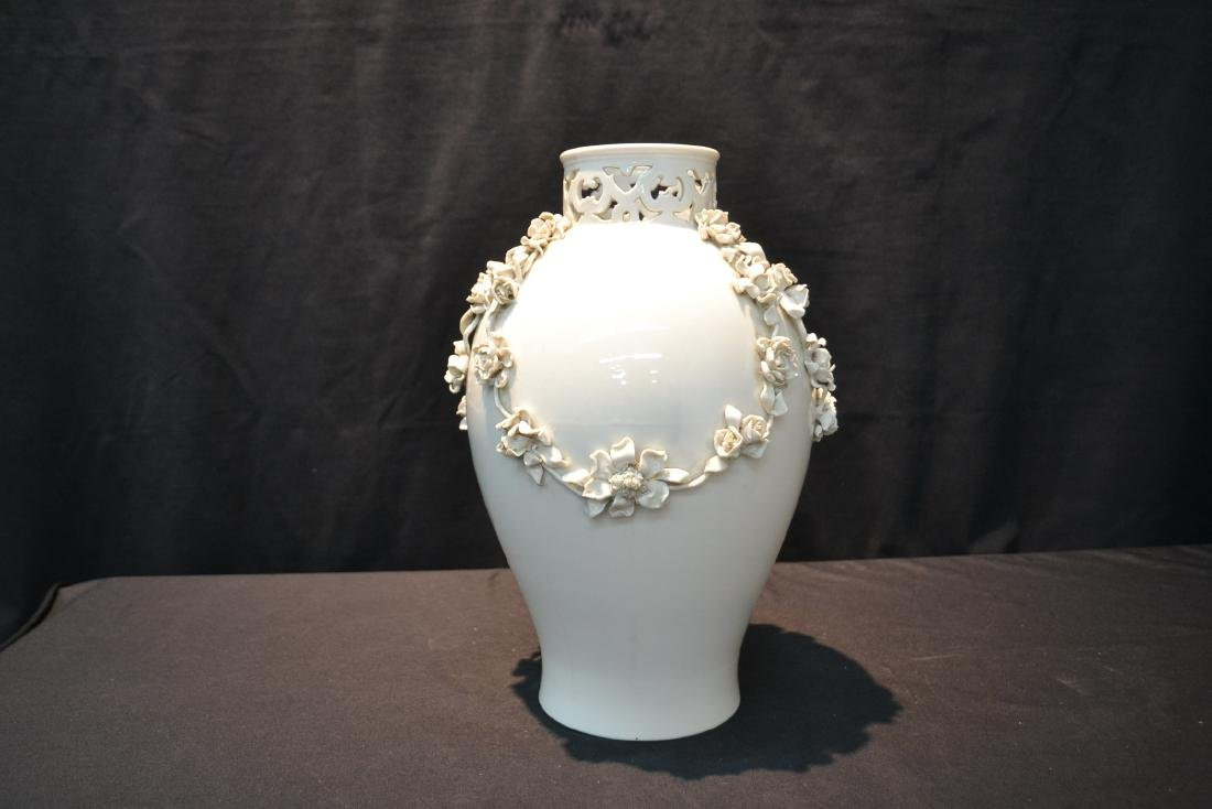 NYMPHENBERG BLANC DE CHINE VASE WITH - 5