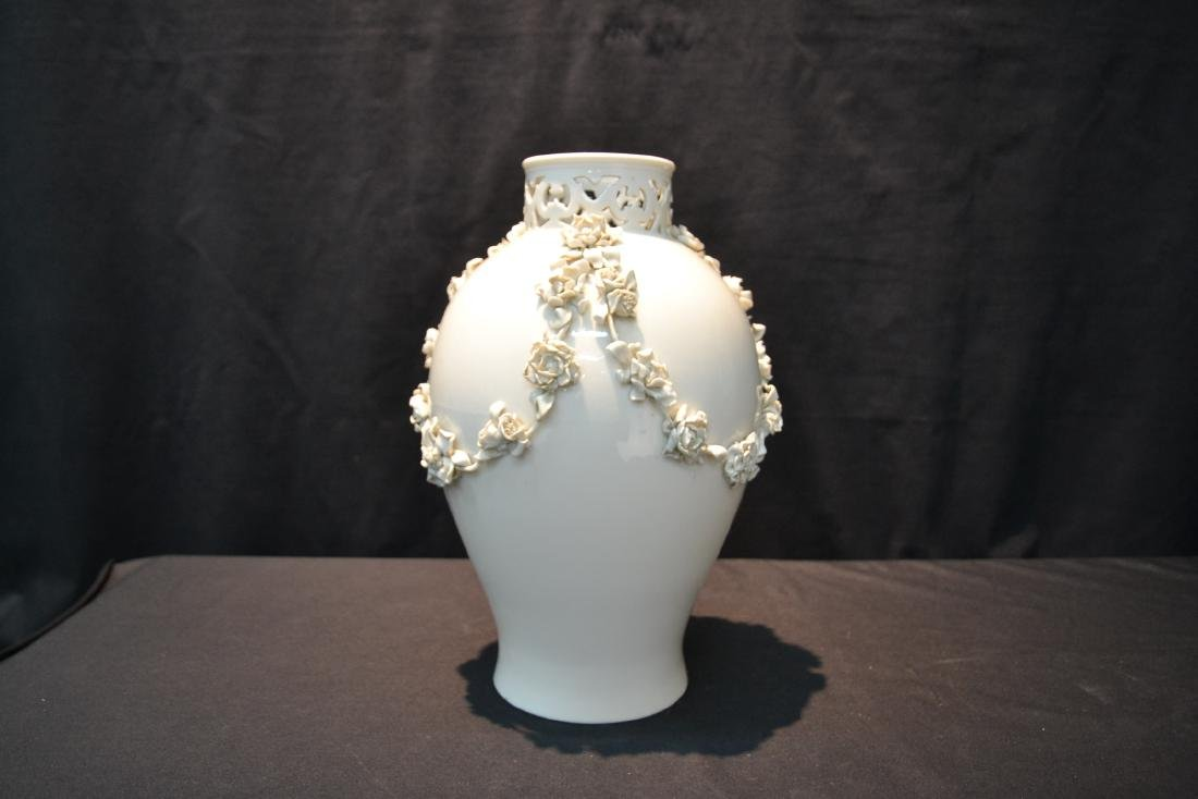 NYMPHENBERG BLANC DE CHINE VASE WITH - 6