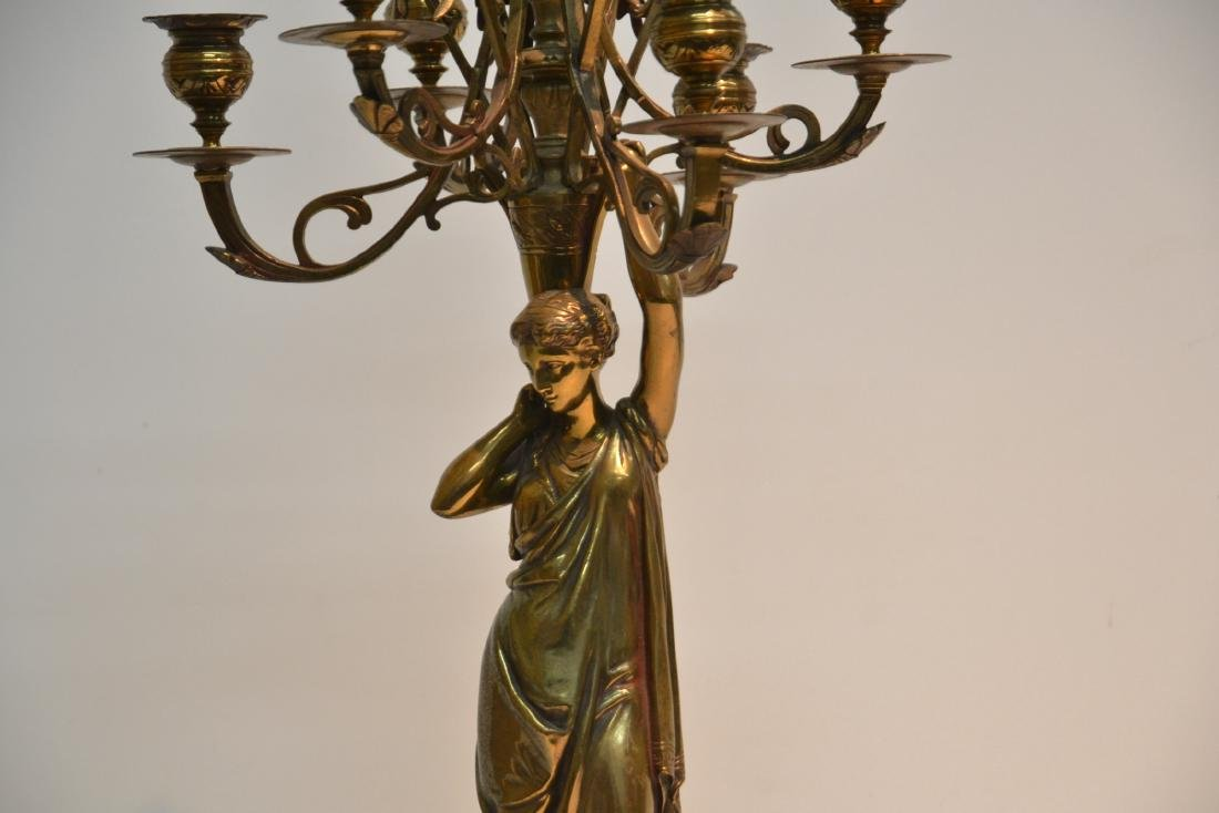 6-LIGHT BRONZE CANDELABRA WITH NEO CLASSICAL - 3