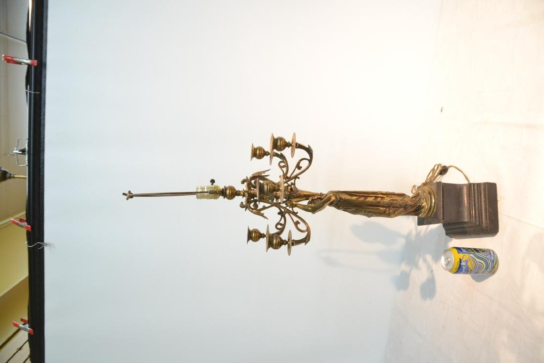 6-LIGHT BRONZE CANDELABRA WITH NEO CLASSICAL - 5