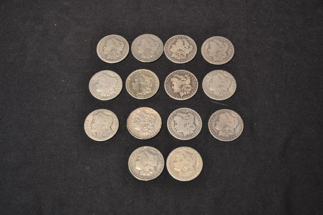 (14) MORGAN SILVER DOLLARS FROM 1884-1888 - 2