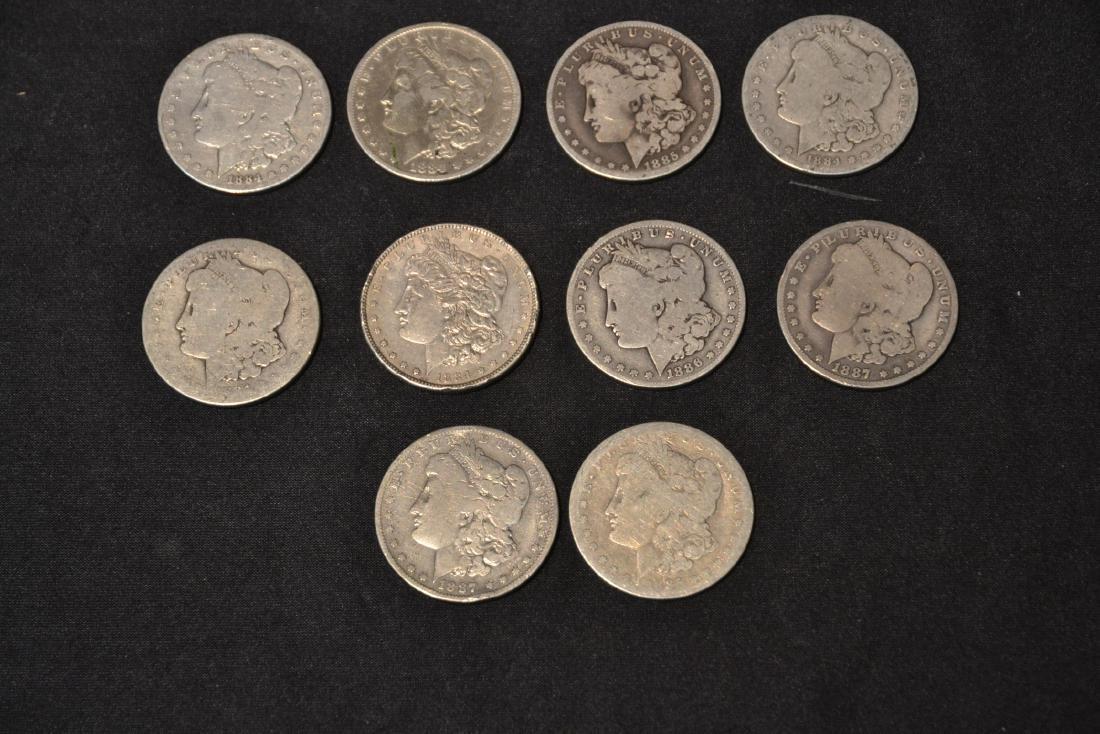 (14) MORGAN SILVER DOLLARS FROM 1884-1888 - 3