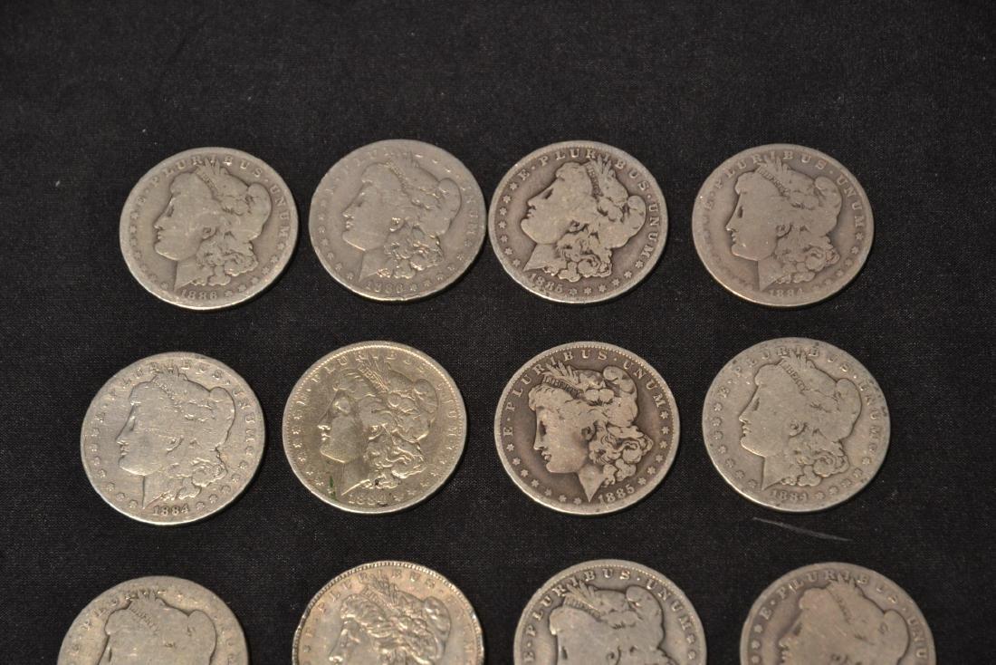 (14) MORGAN SILVER DOLLARS FROM 1884-1888 - 4