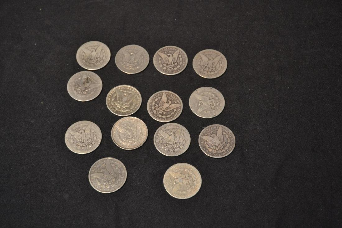 (14) MORGAN SILVER DOLLARS FROM 1884-1888 - 5