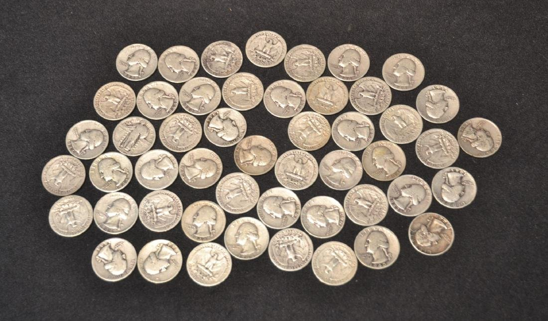 (50) SILVER QUARTERS FROM 1943 & 1944