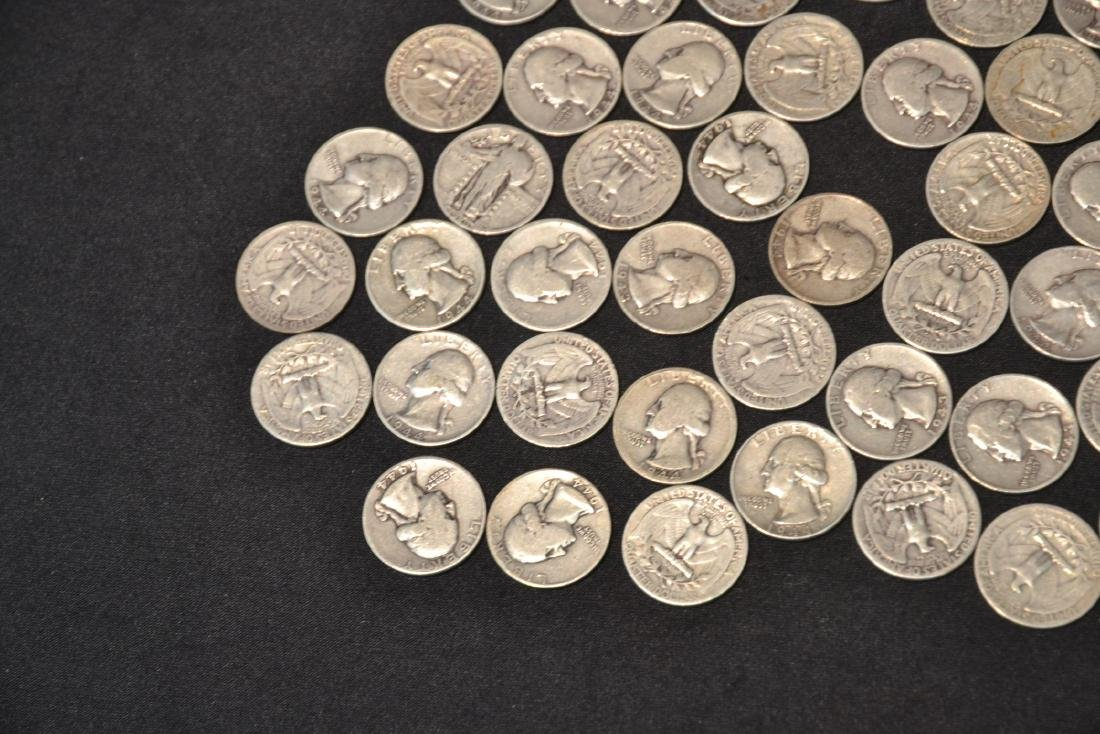 (50) SILVER QUARTERS FROM 1943 & 1944 - 2