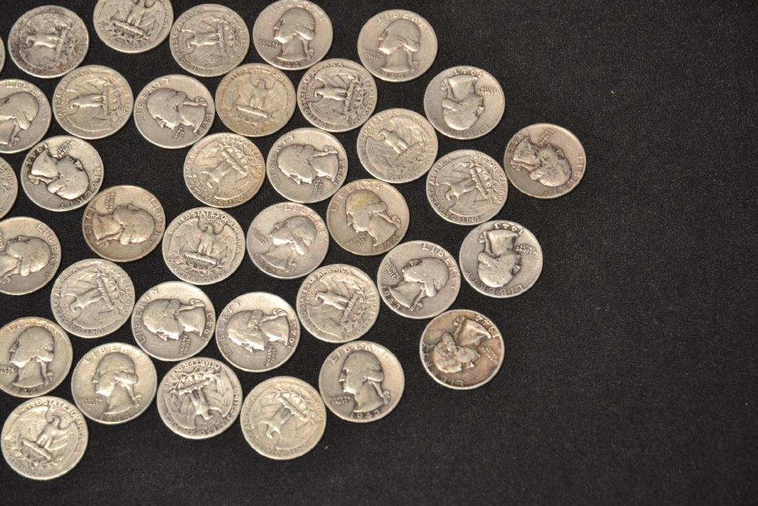 (50) SILVER QUARTERS FROM 1943 & 1944 - 3