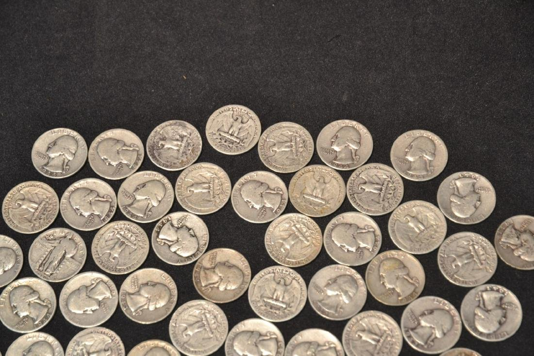 (50) SILVER QUARTERS FROM 1943 & 1944 - 4